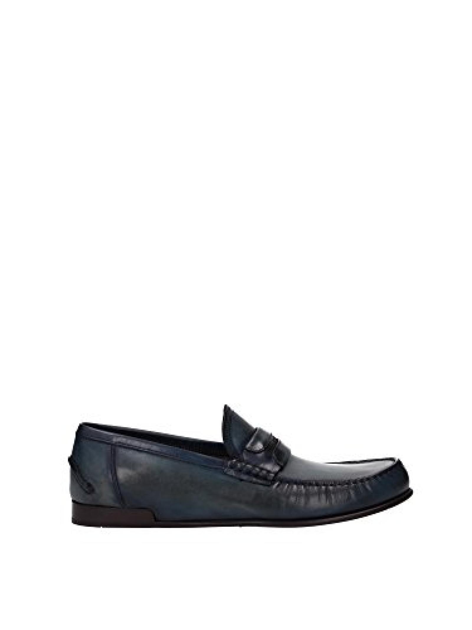 Dolce und Gabbana Halbschuhe blau Kalbsleder - Modellnummer: CA6057 A1560 80653