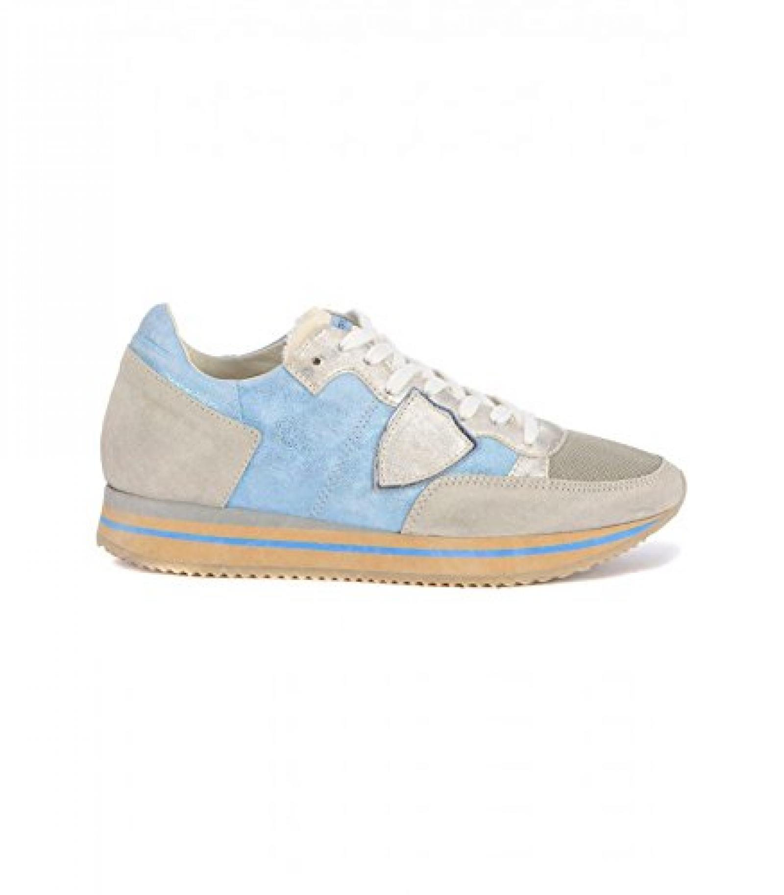 PHILIPPE MODEL TRLD HL05 BLAU WILDLEDER SNEAKERS