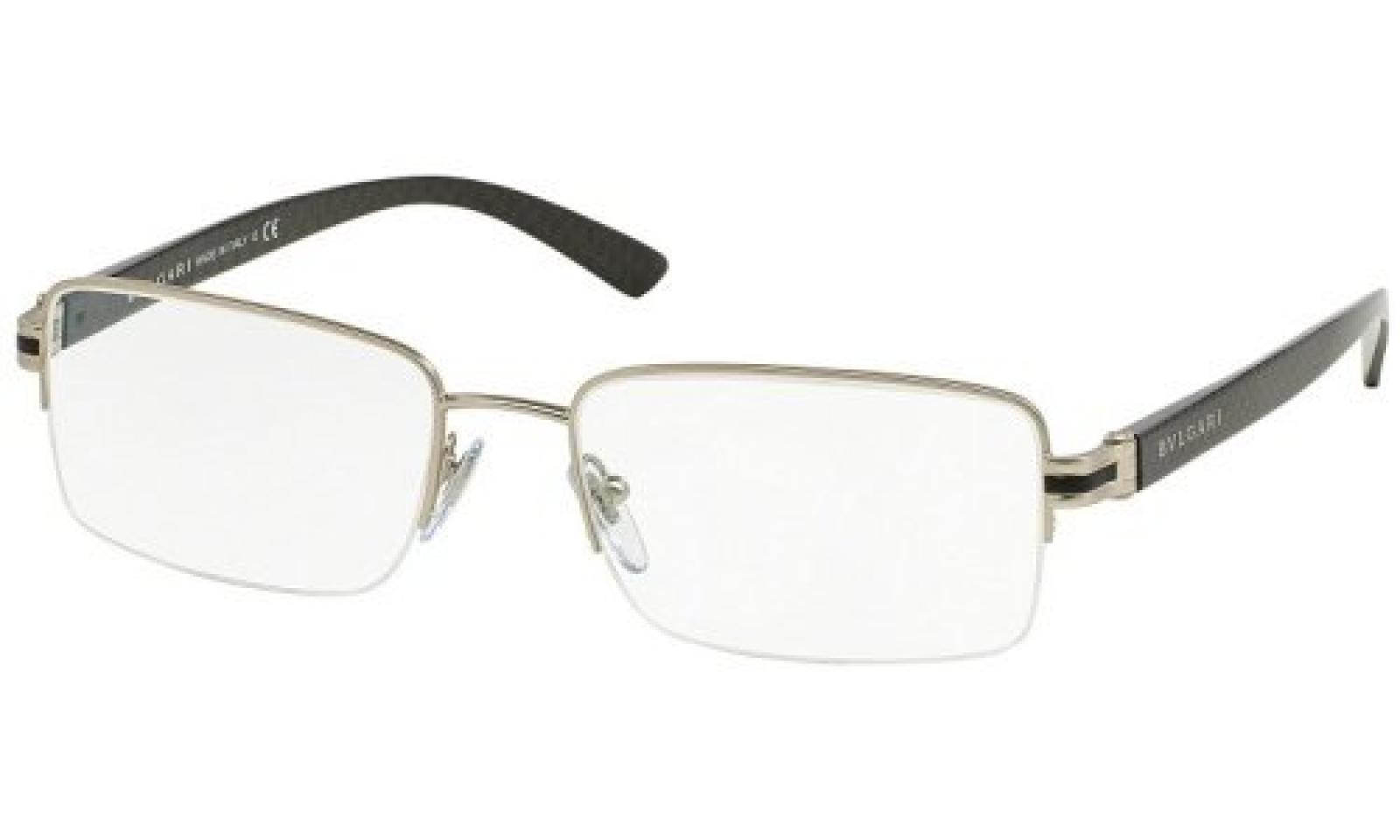 Bulgari Für Mann 1082 Matte Silver Metallgestell Brillen, 53mm