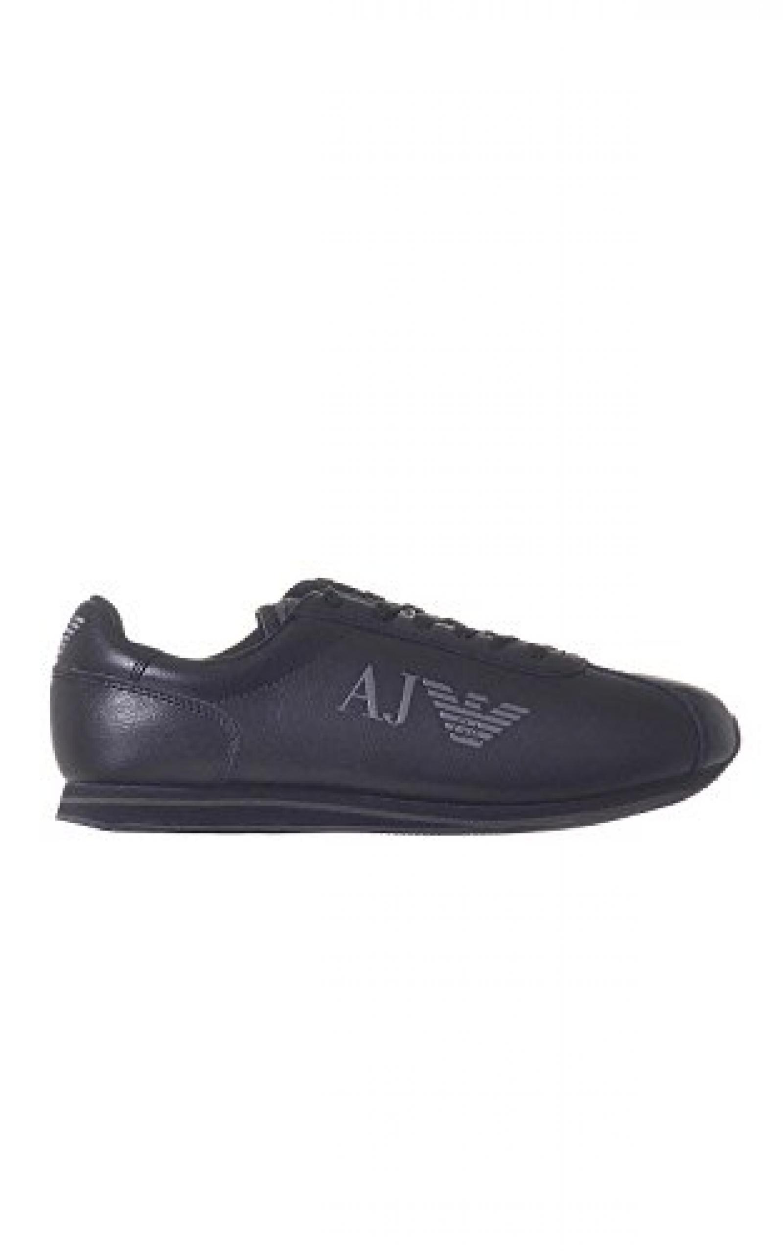 Armani Jeans Leather Runner Herren Sneaker Schwarz
