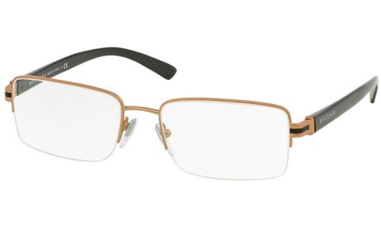 Bulgari Für Mann 1082 Matte Pink Gold Metallgestell Brillen, 53mm