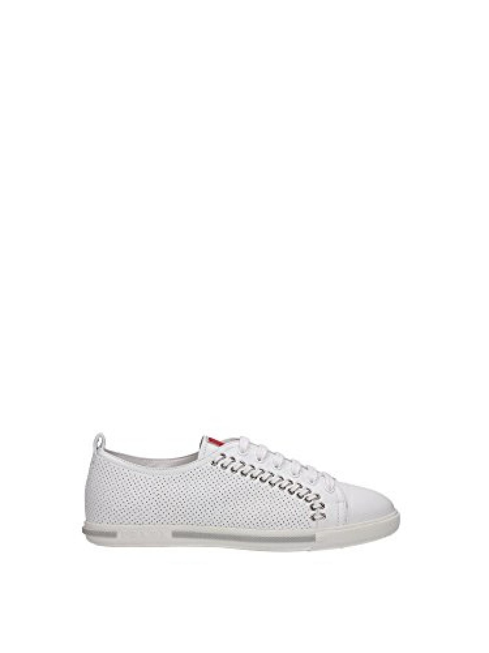 3E5847BIANCO Prada Sneakers Damen Leder