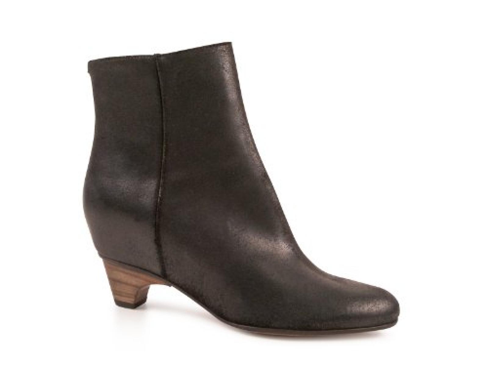 Maison Martin Margiela Frauen midcalf Booties aus schwarzem Camel Leder - Modellnummer: S38WU0235 SX8181 900