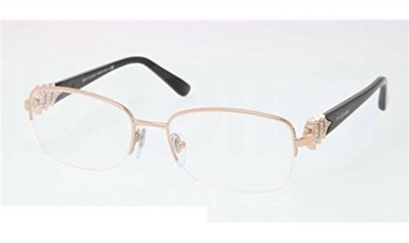 New Bvlgari BV 2162B 376/ Rose Gold Black Frame Men Women Rectangular Metal Eyeglasses