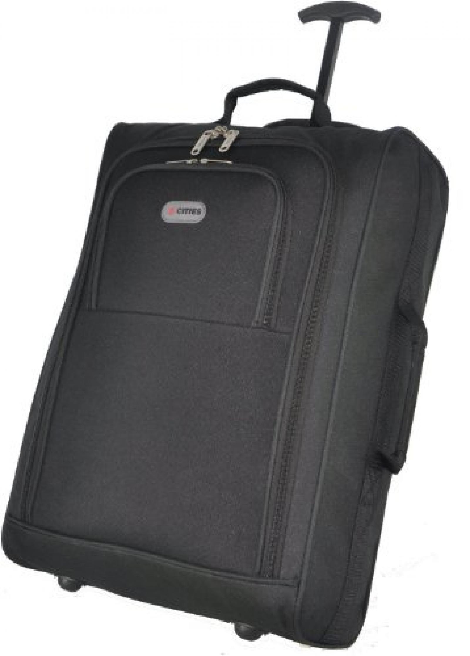 5 Cities® Leichtbeton Handgepäck Taschen Reisegepäck Koffer Cabin Approved Wheely Bag Ryanair Easyjet und viele andere - 1.4k - 40 Liter