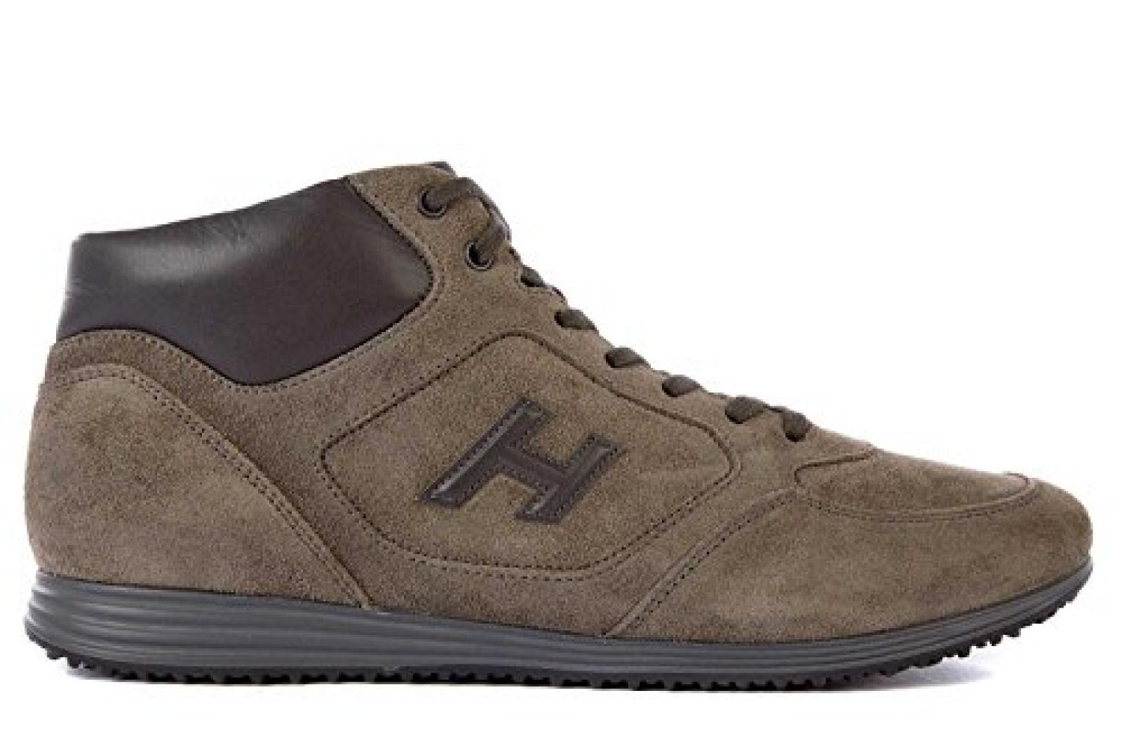 Hogan Herrenschuhe Herren Wildleder Sneakers Schuhe h 205 Grau