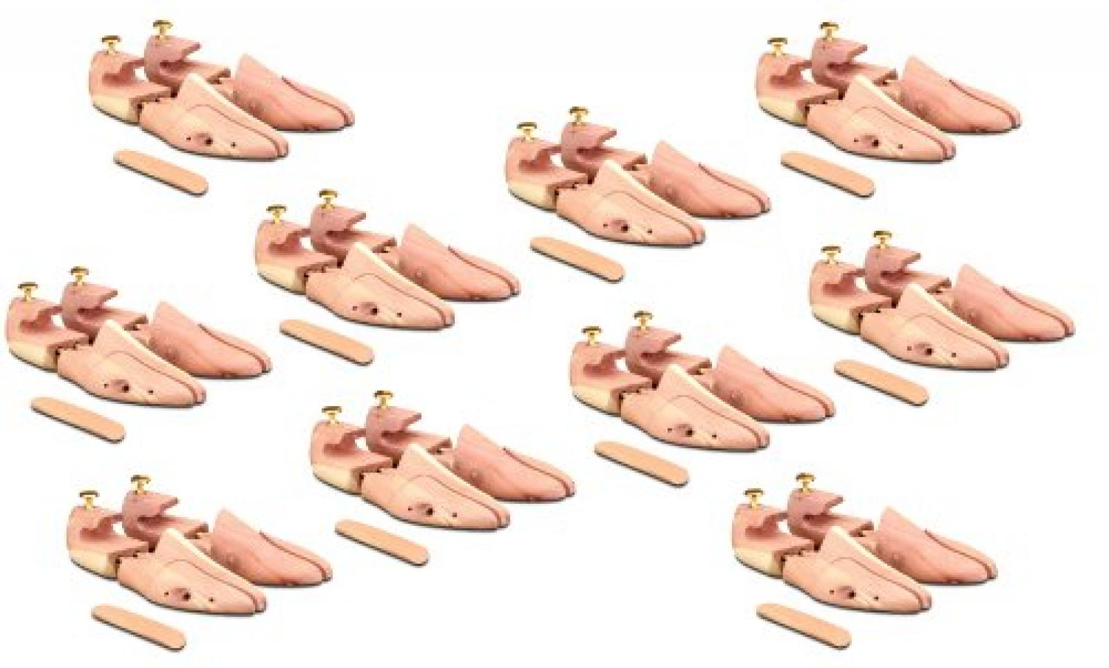 20 Paar Schuhspanner aus Zedernholz Langer & Messmer, das Original