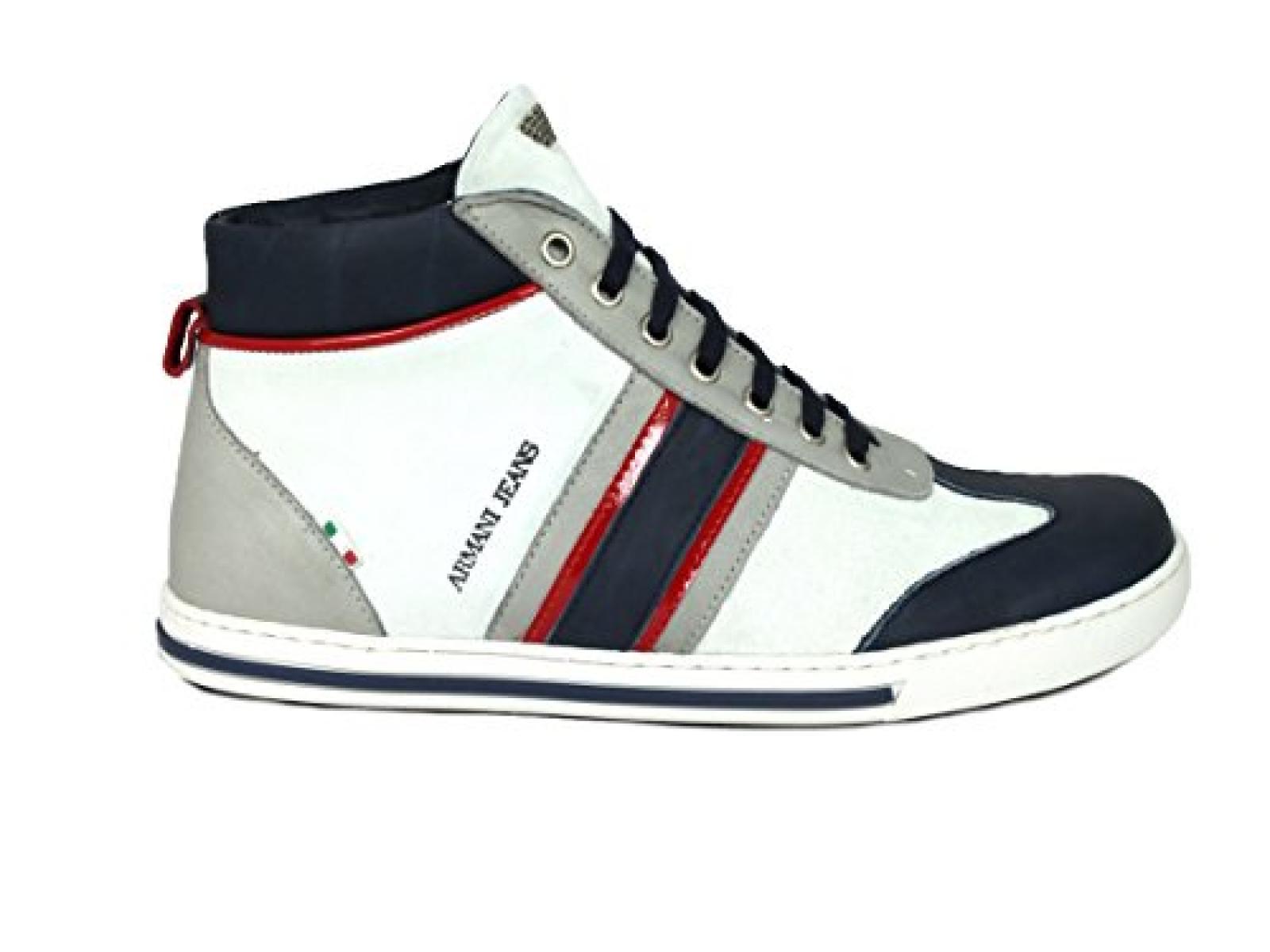 Sneaker Armani Herrenschuhe Schuhe gefüttert Jeans Shoe 4ARL5j