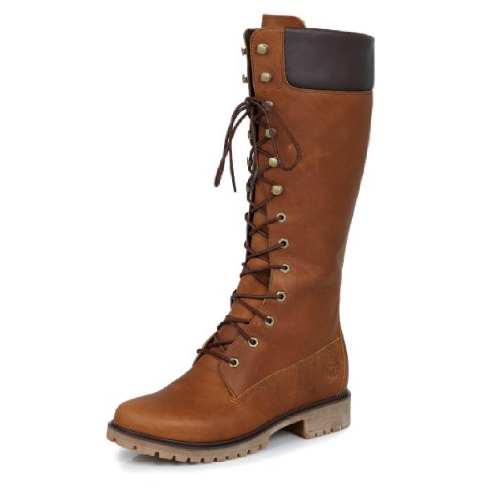 Timberland Dark Braun Premium 14inch Damen Leder Boots