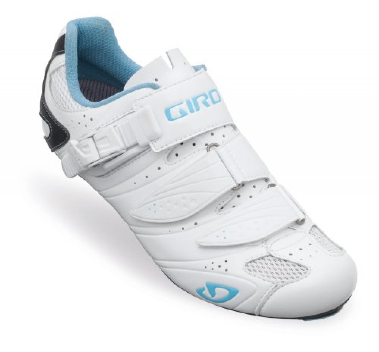 Giro Factress Damen Rennrad Fahrrad Schuhe weiß/blau 2014