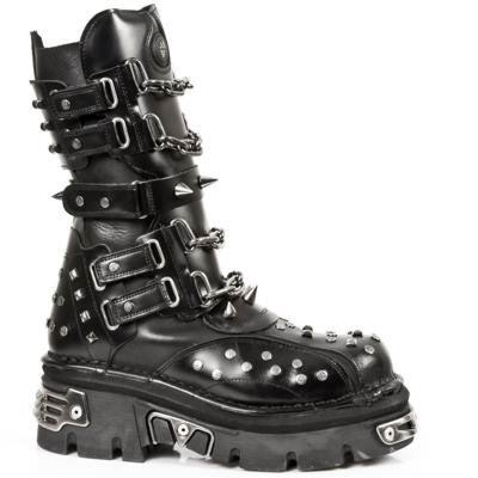 New Rock Boots Lederstiefel schwarz Style 799