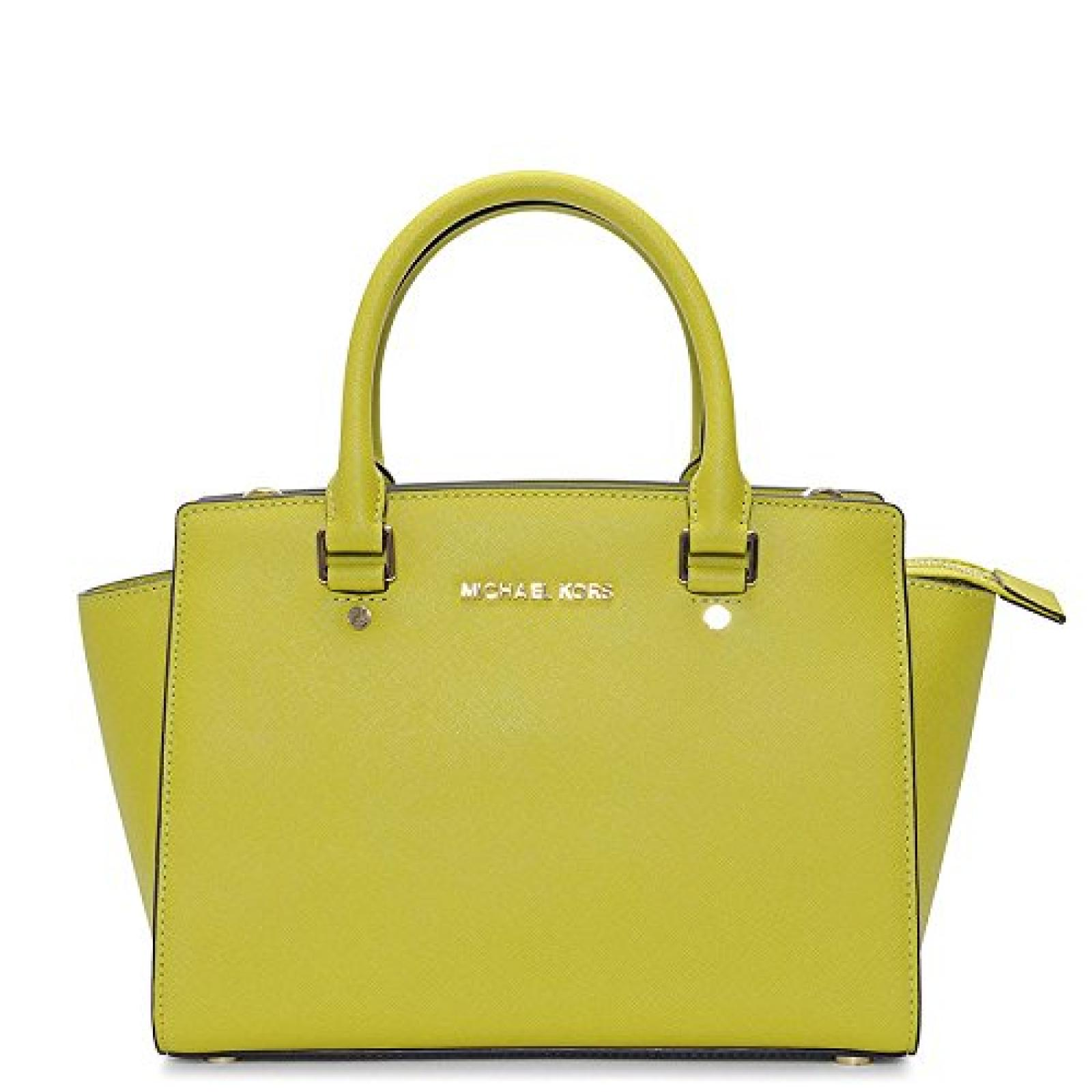 Michael Kors Selma Md Satchel Apple Leather