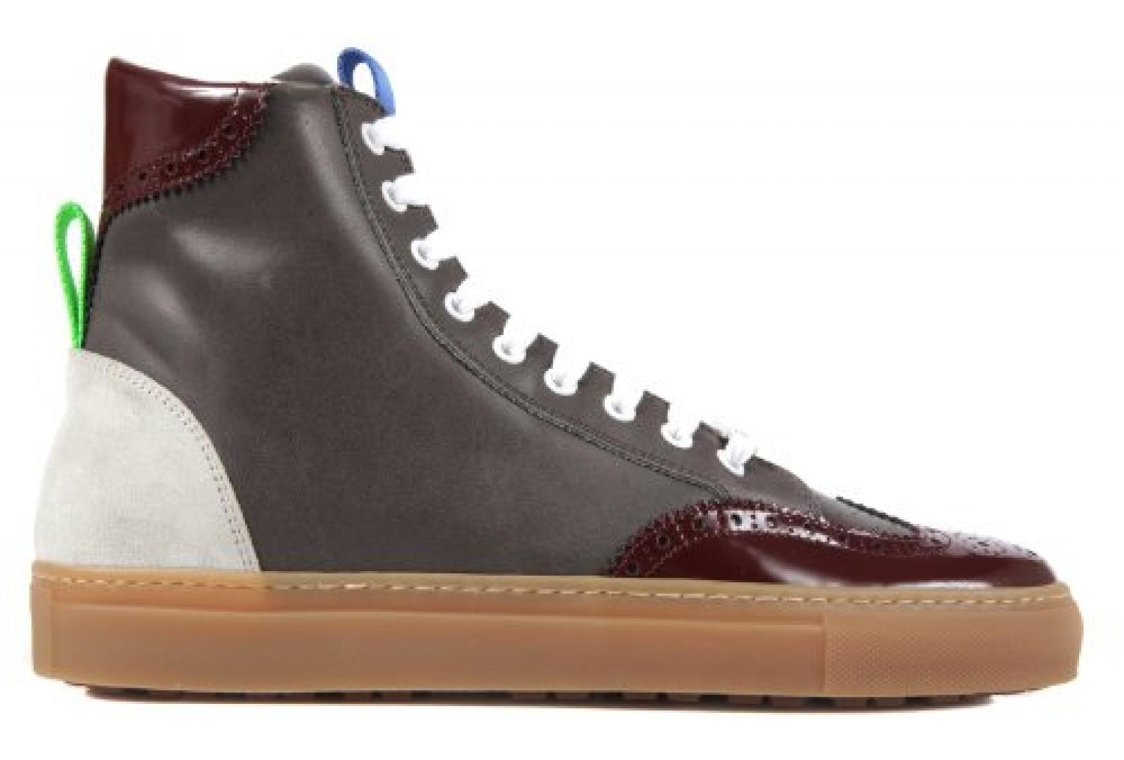 Dsquared2 Dsquared Herrenschuhe Herren Leder Schuhe High Sneakers Grau