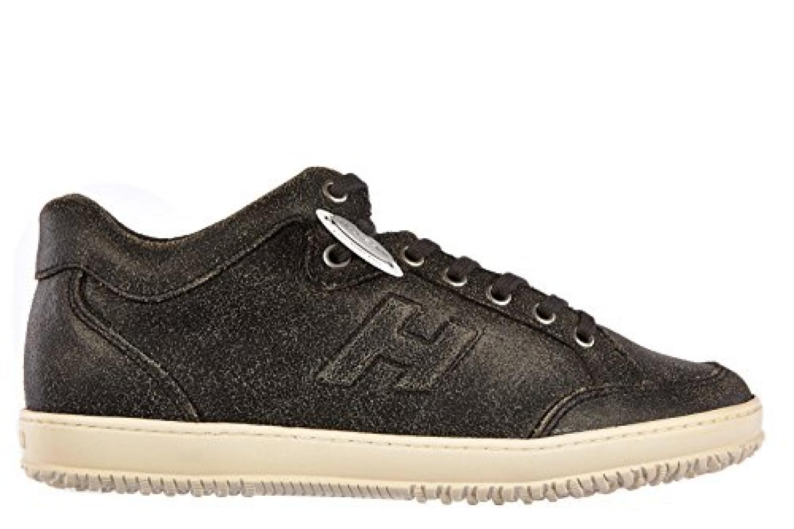 Hogan Herrenschuhe Herren Leder Schuhe Sneakers h168 mid cut Schwarz