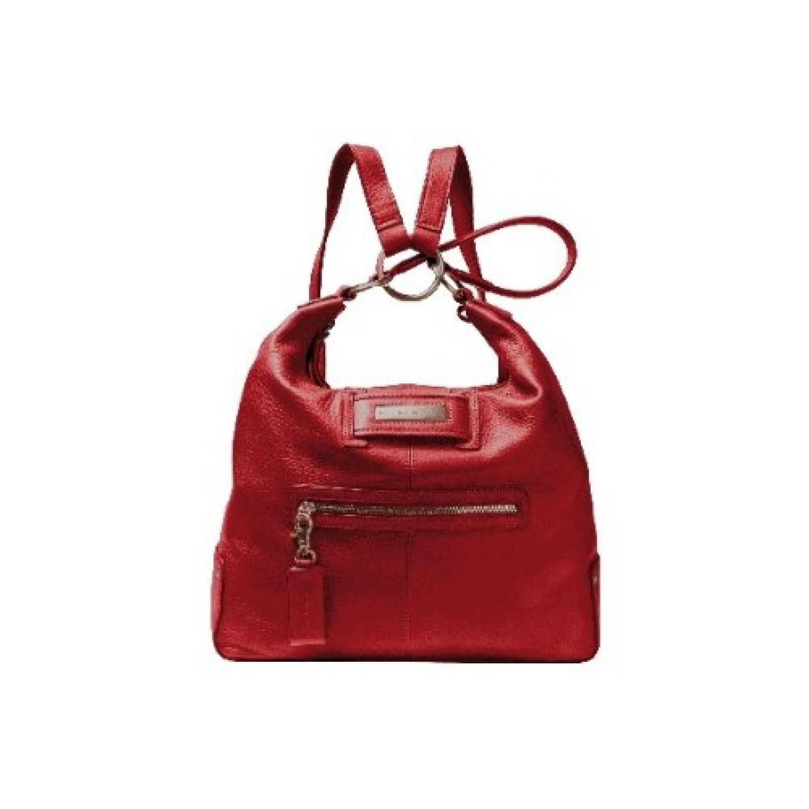 Piquadro Schultertasche aus Leder rot Shimmer BD2238S31/RO