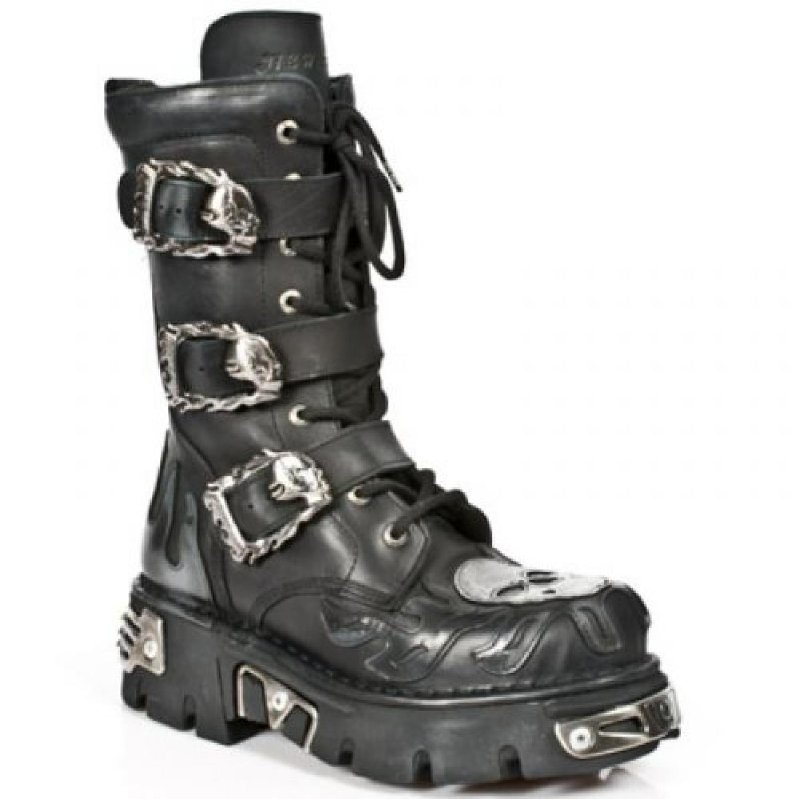 New Rock Boots Lederstiefel schwarz Style 711