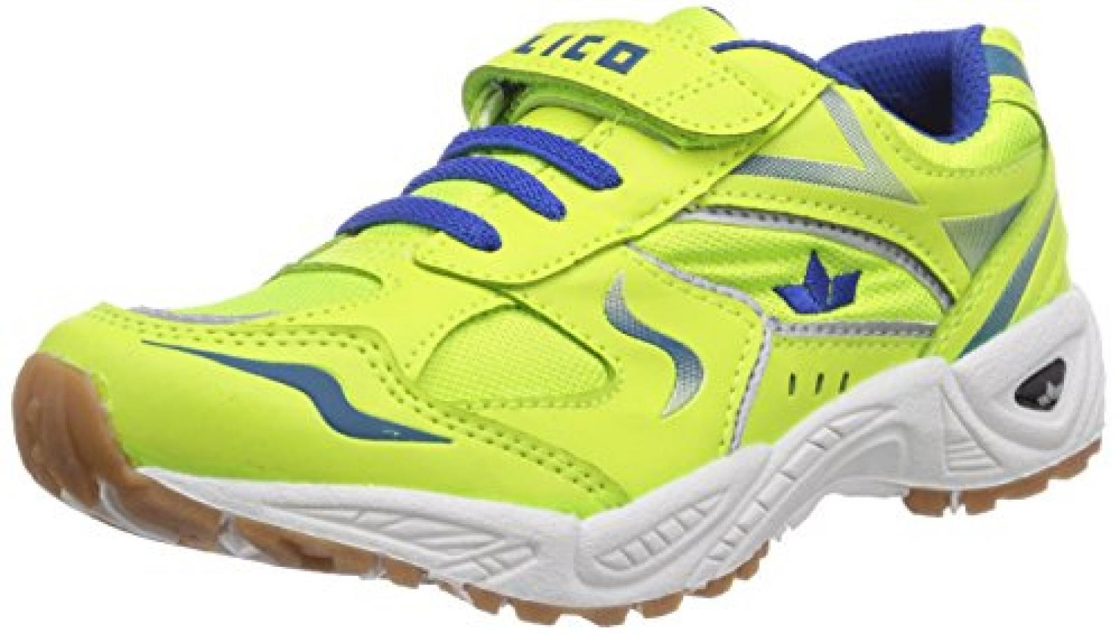 Lico Bob VS 360423 Unisex-Kinder Hallenschuhe Neongelb / Blau