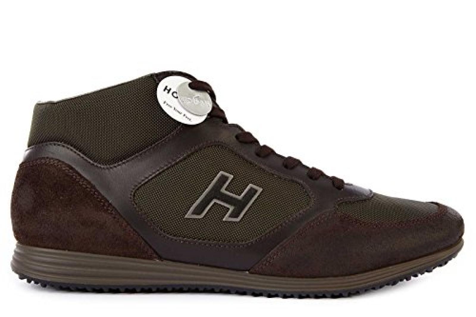 Hogan Herrenschuhe Herren Leder Schuhe Sneakers h205 olympia Braun