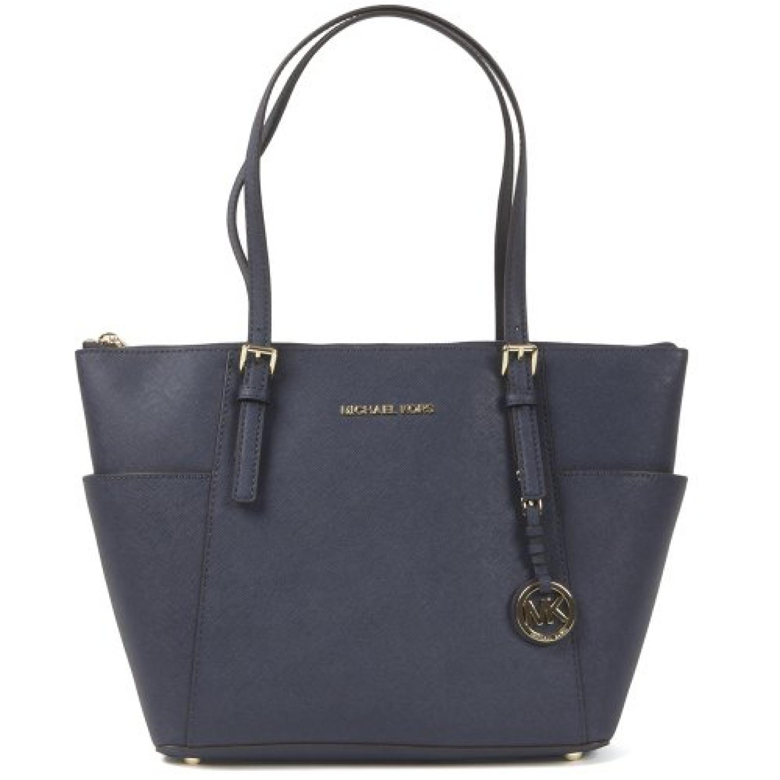 Michael Kors Jet Set Damen Handtasche aus Leder, Blau