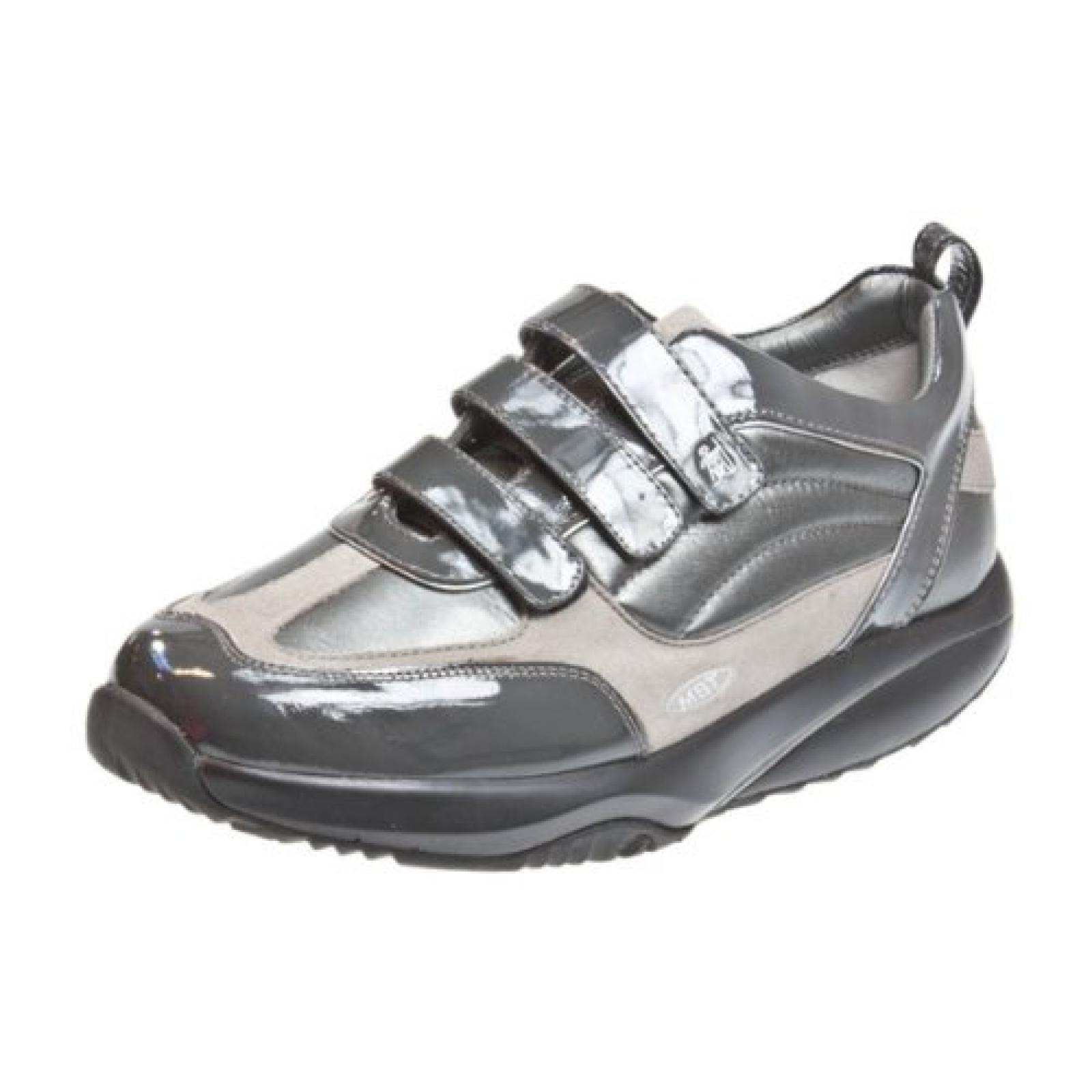 MBT Nama Leder Grau Damen Velcro Strap Sport Sneakers