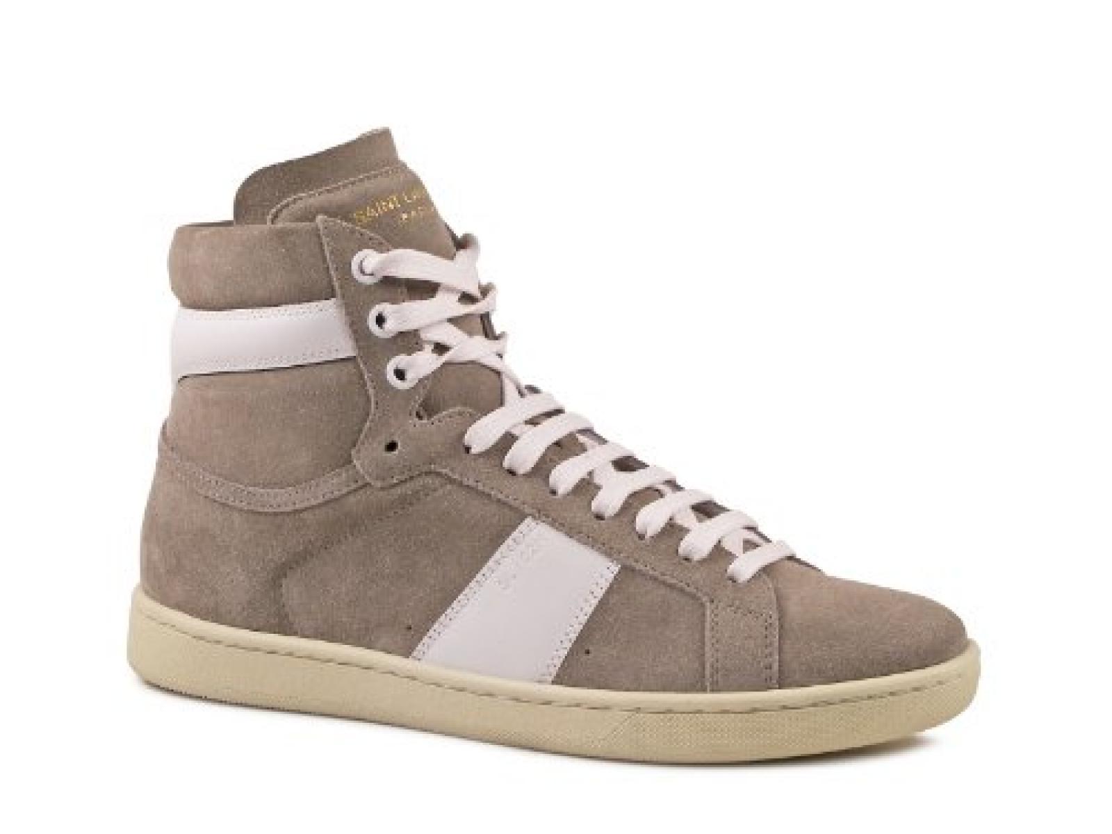 Saint Laurent Womens Graphit Patent Leder hi-Top sneakers - Modellnummer: 327827 BT320 1191
