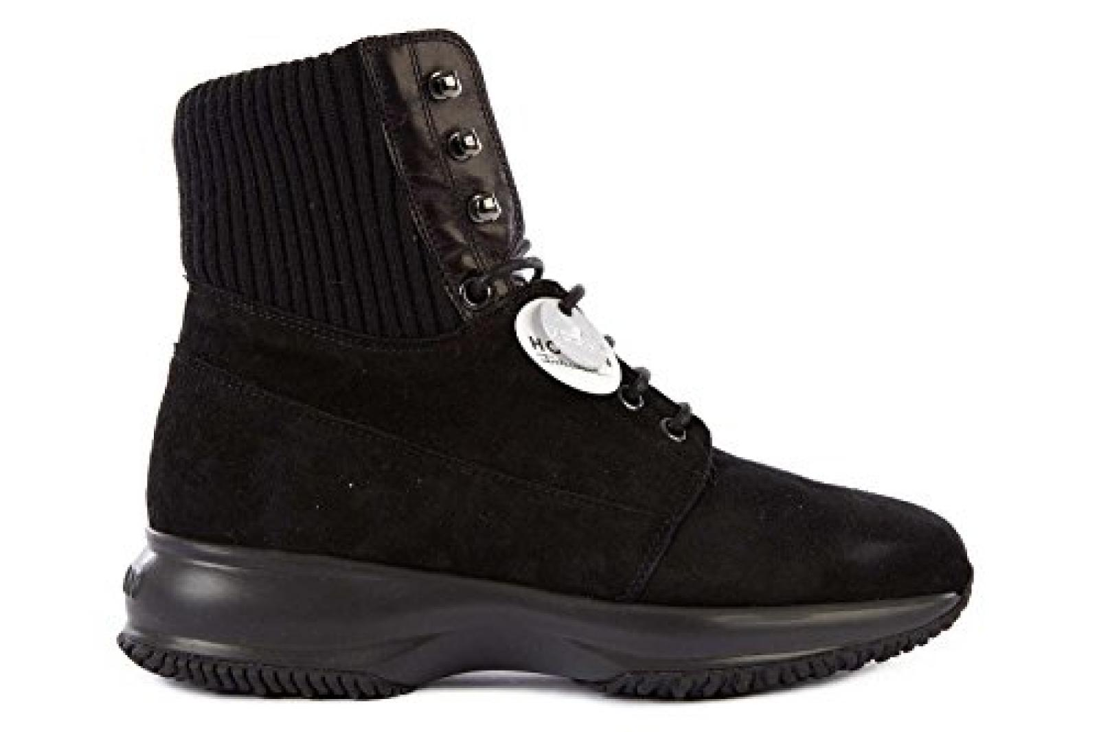 Hogan Damenschuhe Turnschuhe Damen Wildleder Schuhe Sneakers interactive Schwarz
