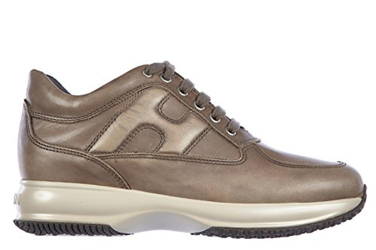 Hogan Herrenschuhe Herren Leder Schuhe Sneakers interactive Braun