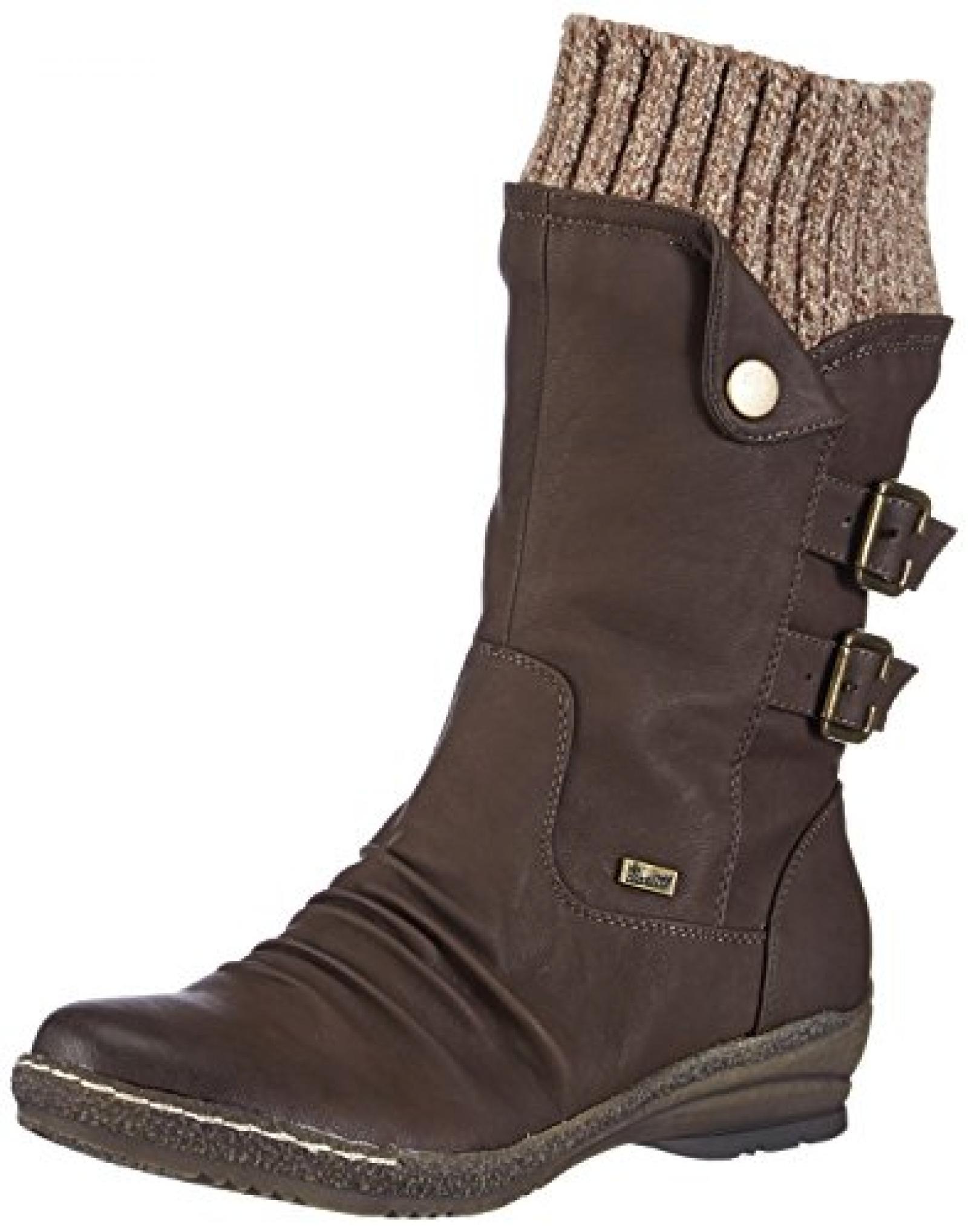 Rieker 90174-25 Damen Langschaft Stiefel