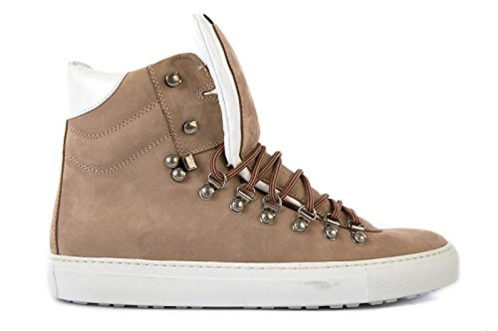 Dsquared2 Dsquared Herrenschuhe Herren Leder Schuhe High Sneakers beige