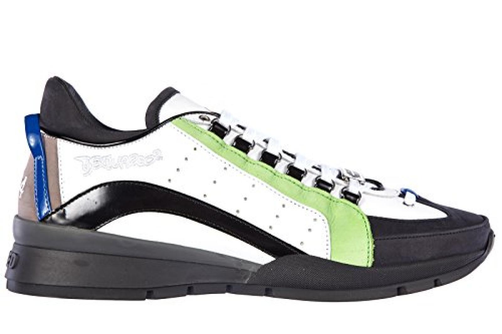 Dsquared2 Herrenschuhe Herren Leder Schuhe Sneakers Weiß