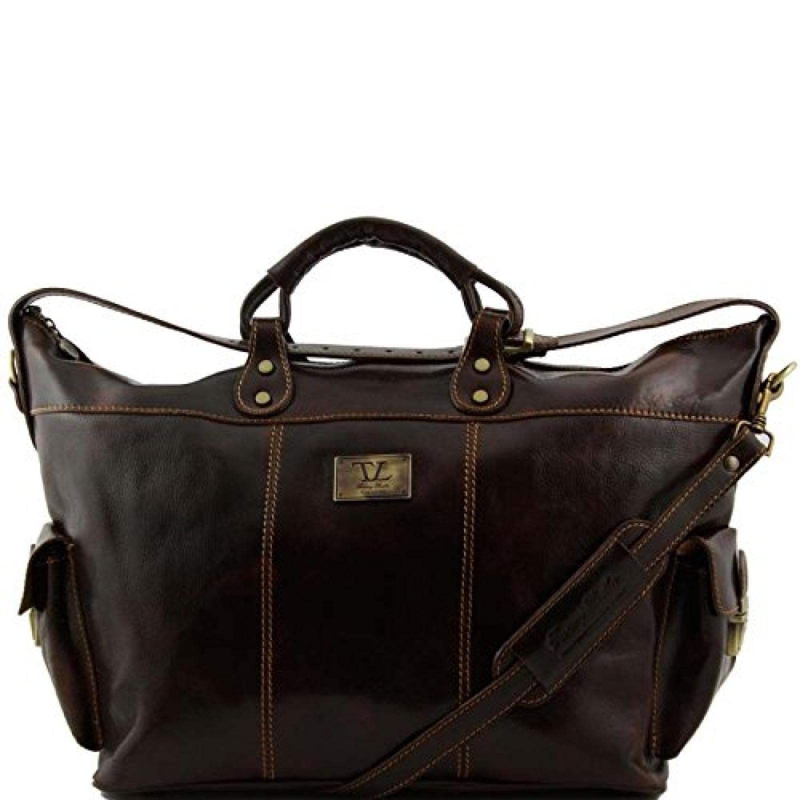 Tuscany Leather - Porto - Reisetasche aus Leder Dunkelbraun - TL140938/5