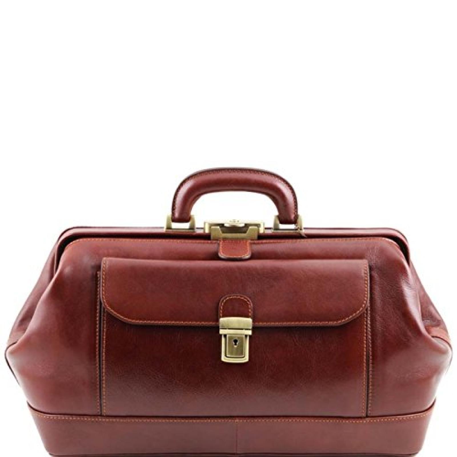 Tuscany Leather - Bernini - Exklusive Arztkoffer Braun - TL141298/1