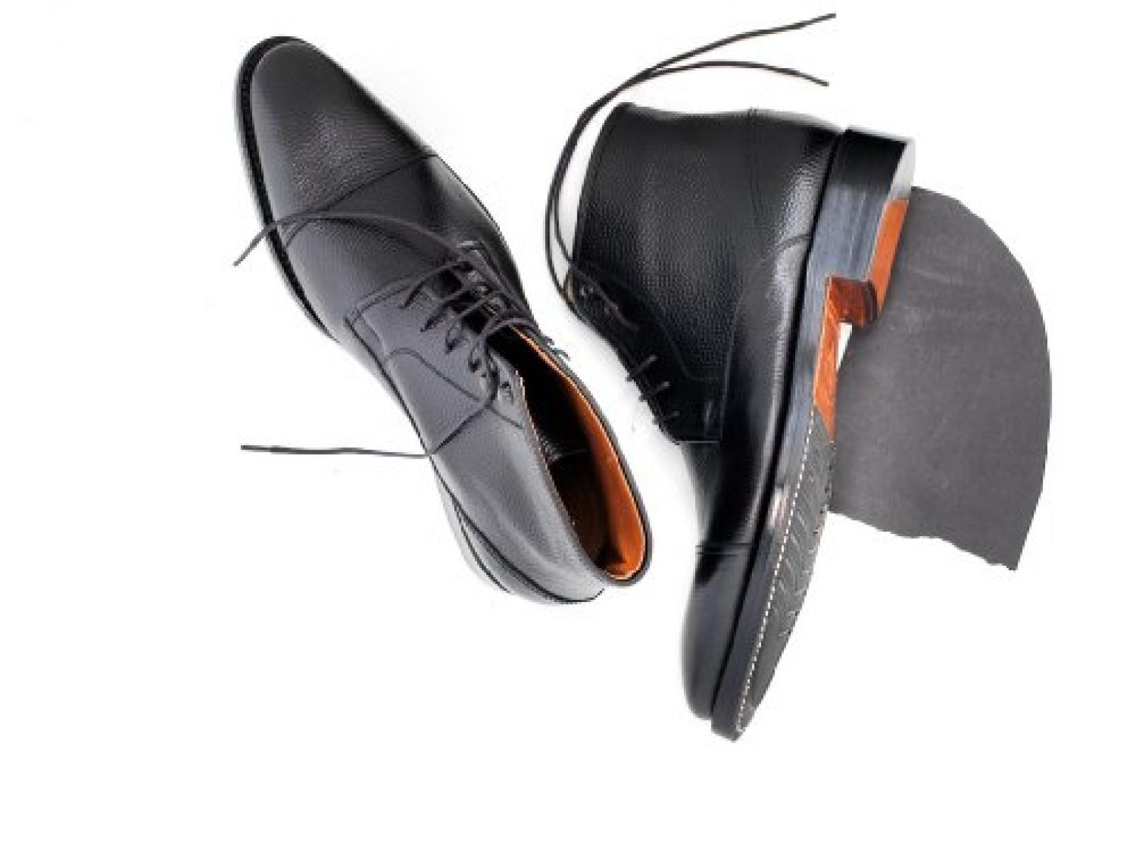 Prime Shoes Berlin Rahmengenäht Schwarz Schnürstiefelette aus feinsten Kalbsleder 43