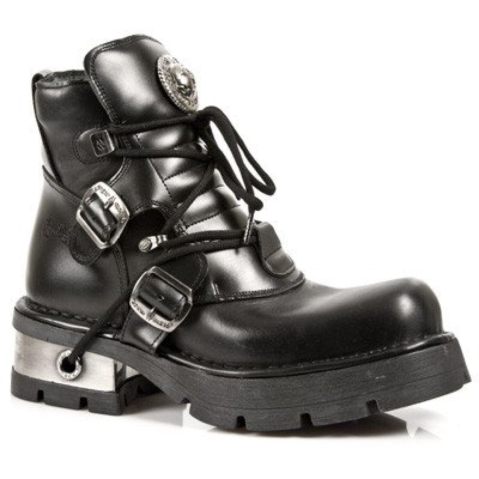 New Rock Schuhe - Itali Negro Zueco Plattformen