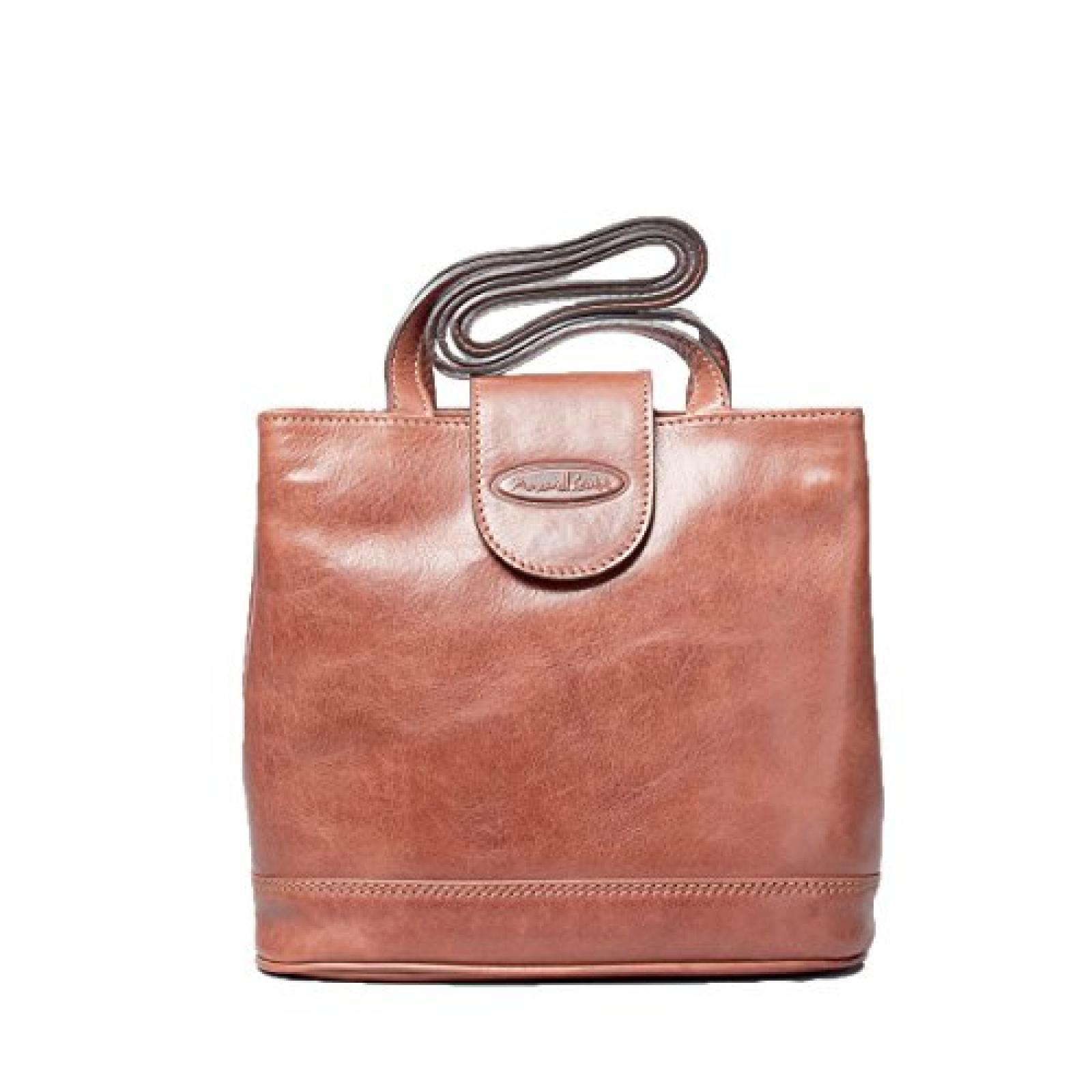 Maxwell Scott Bags ® Luxus Leder Schultertasche für Damen in Cognac Braun (EmiliaL)