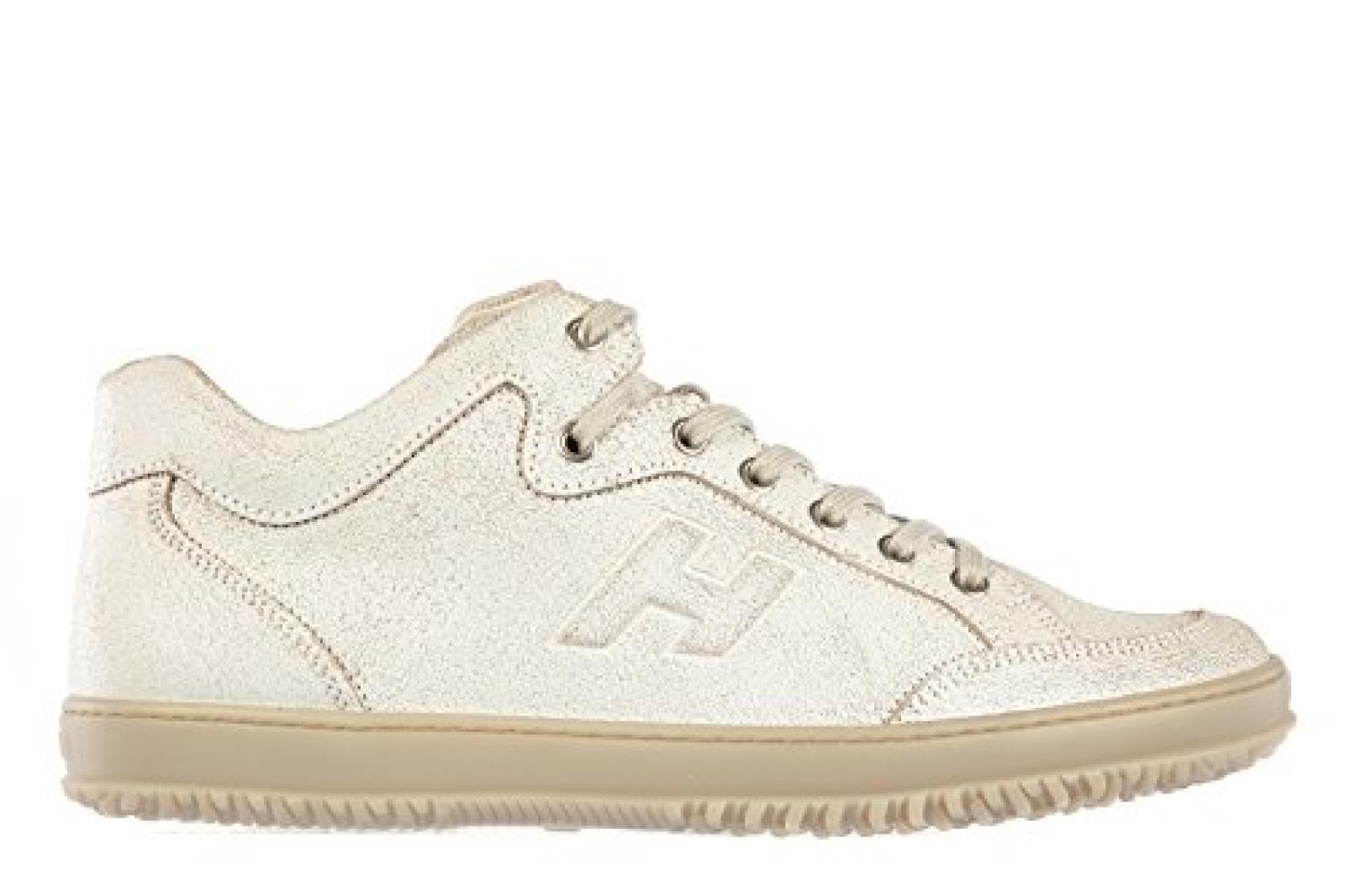 Hogan Herrenschuhe Herren Leder Schuhe Sneakers h168 mid cut Weiß