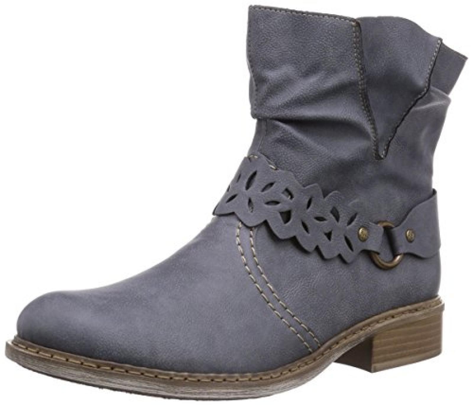 Rieker Z4160 Damen Halbschaft Stiefel