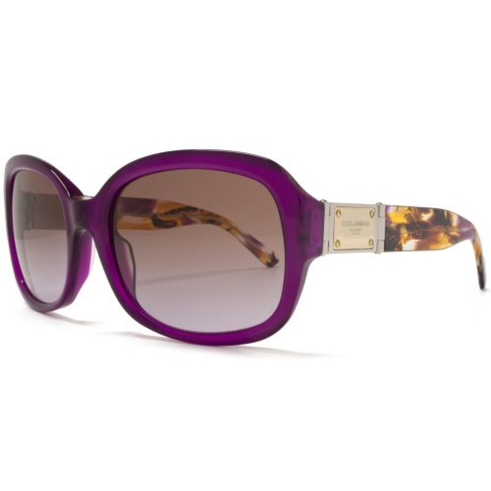 Dolce & Gabbana Classic Square Sunglasses Violet Brown 56 Violet Gradient