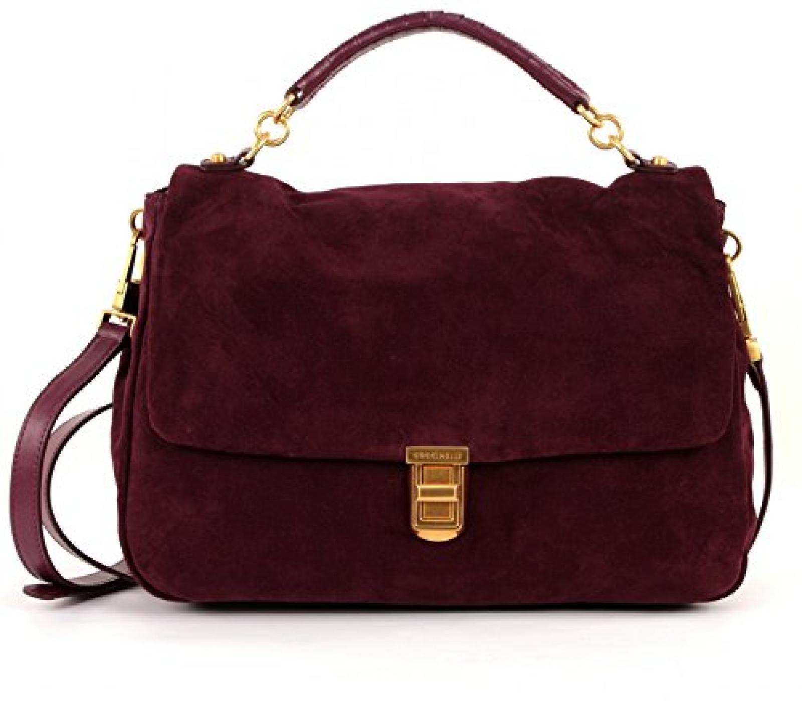 ORIGINAL COCCINELLE Tasche Oscar Suede Damen Bordeaux - c1ti0180101286