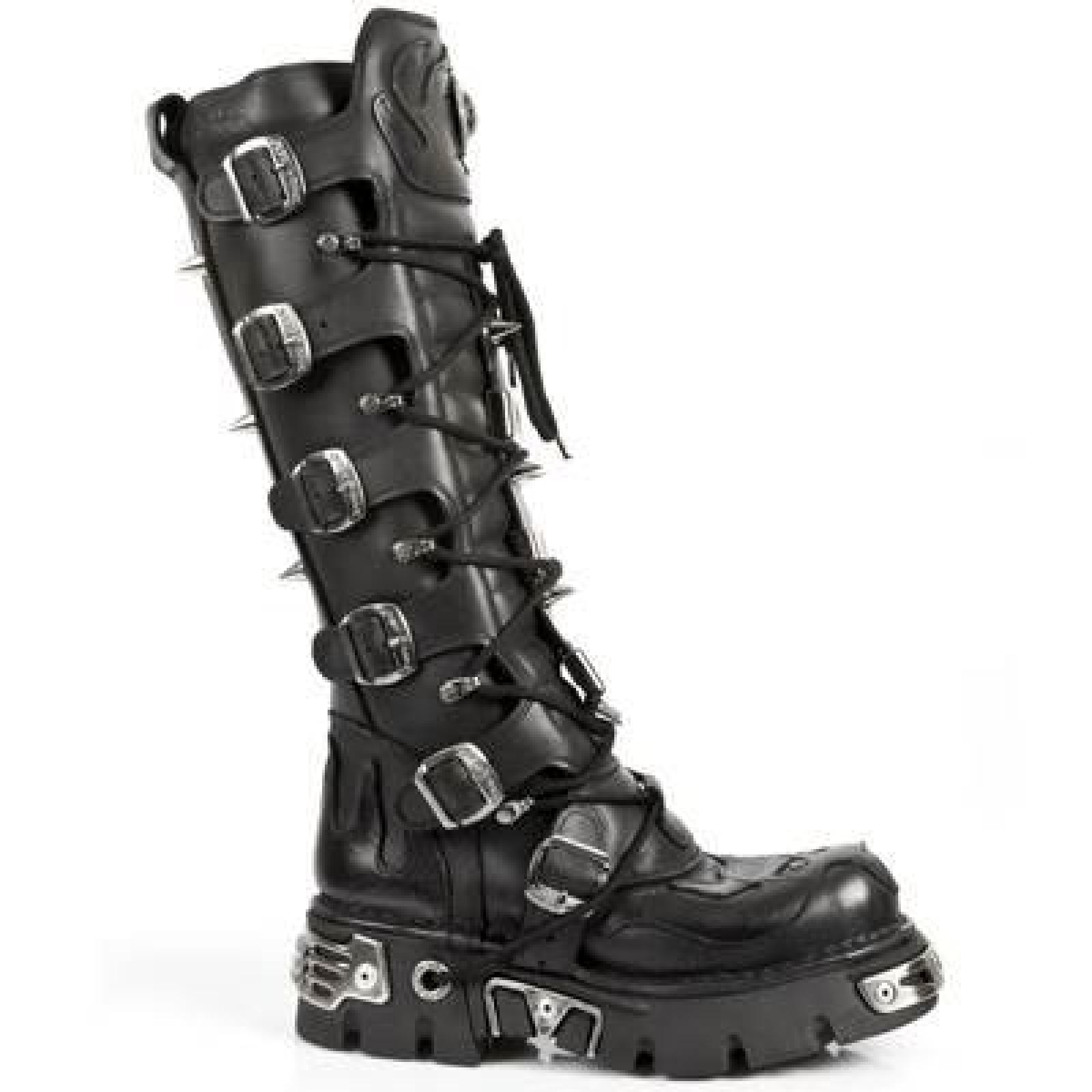 New Rock Boots Lederstiefel schwarz Style 161