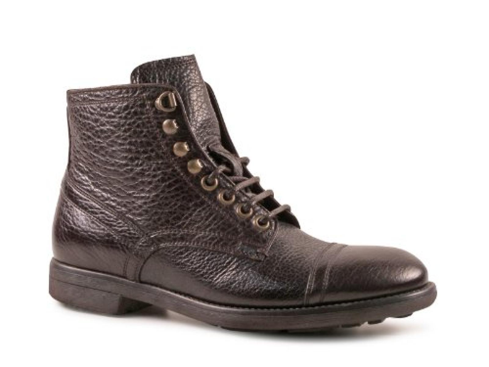 Dolce & Gabbana niedrige Stiefel in dunkel braun Bison Leder - Modellnummer: CA5774 A1139 80048
