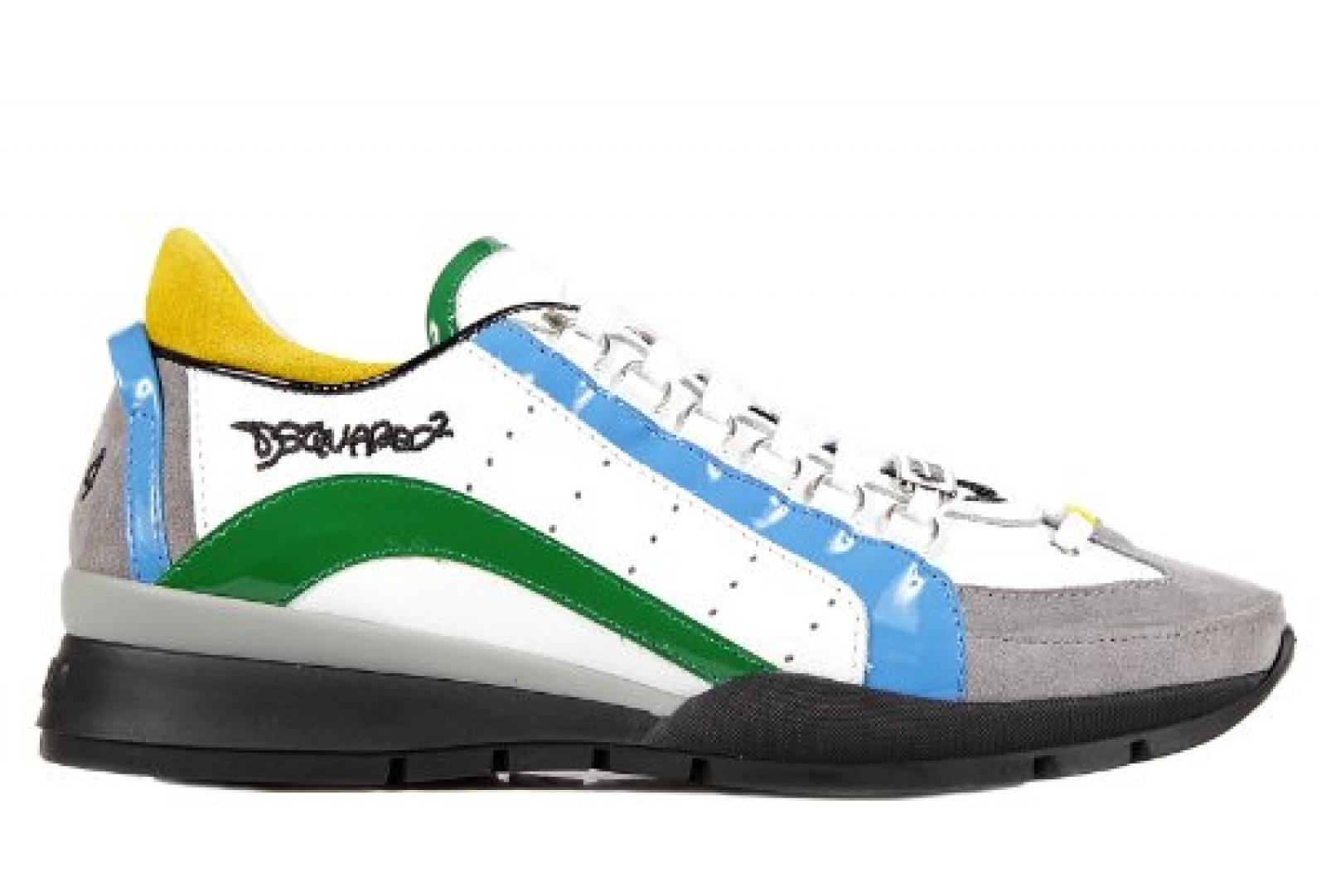 Dsquared2 Herrenschuhe Herren Leder Schuhe Sneakers Grün