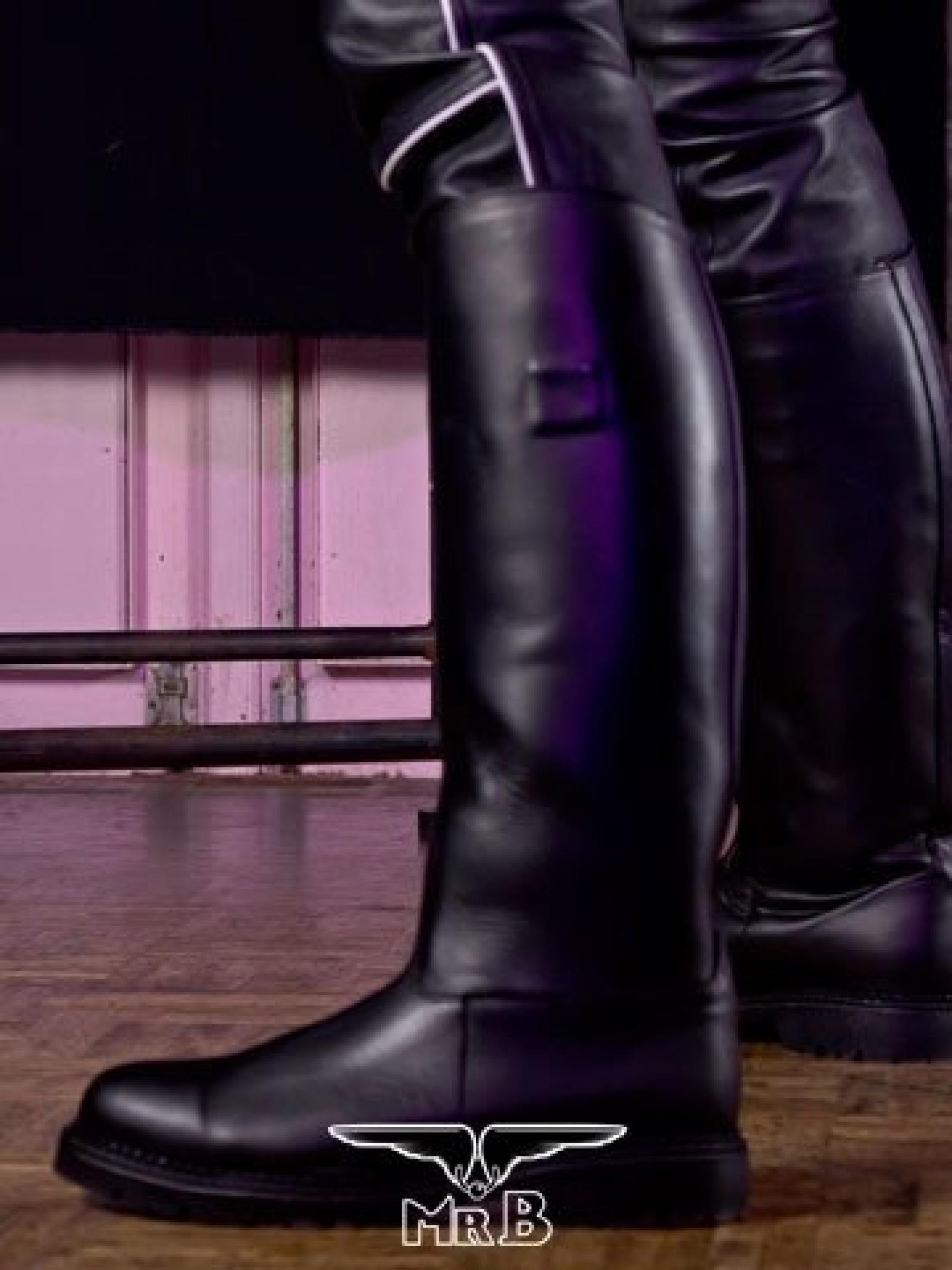 Polizeistiefel Leder police motor patrol boots schwarz höhe 44,5 Lederboots Mottoradstiefel Original Polizei Boots Premium Qualität