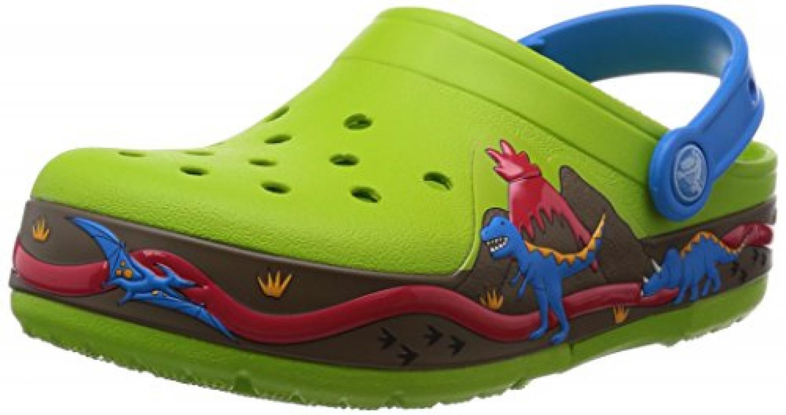 crocs ClightDinoClgPS Jungen Clogs