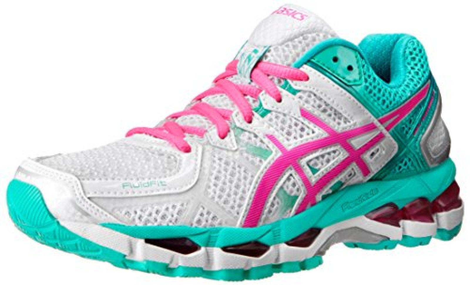 Asics - Frauen-Gel-Kayano 21 Schuhe, EUR: 35.5, White/Hot Pink/Emerald