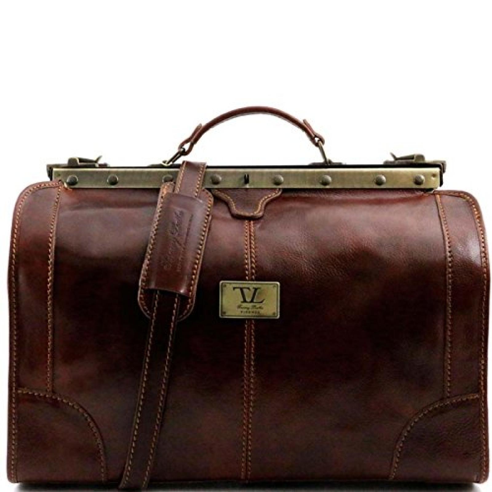 Tuscany Leather - Madrid - Maulbügelreisetasche aus Leder - Klein Braun - TL1023/1