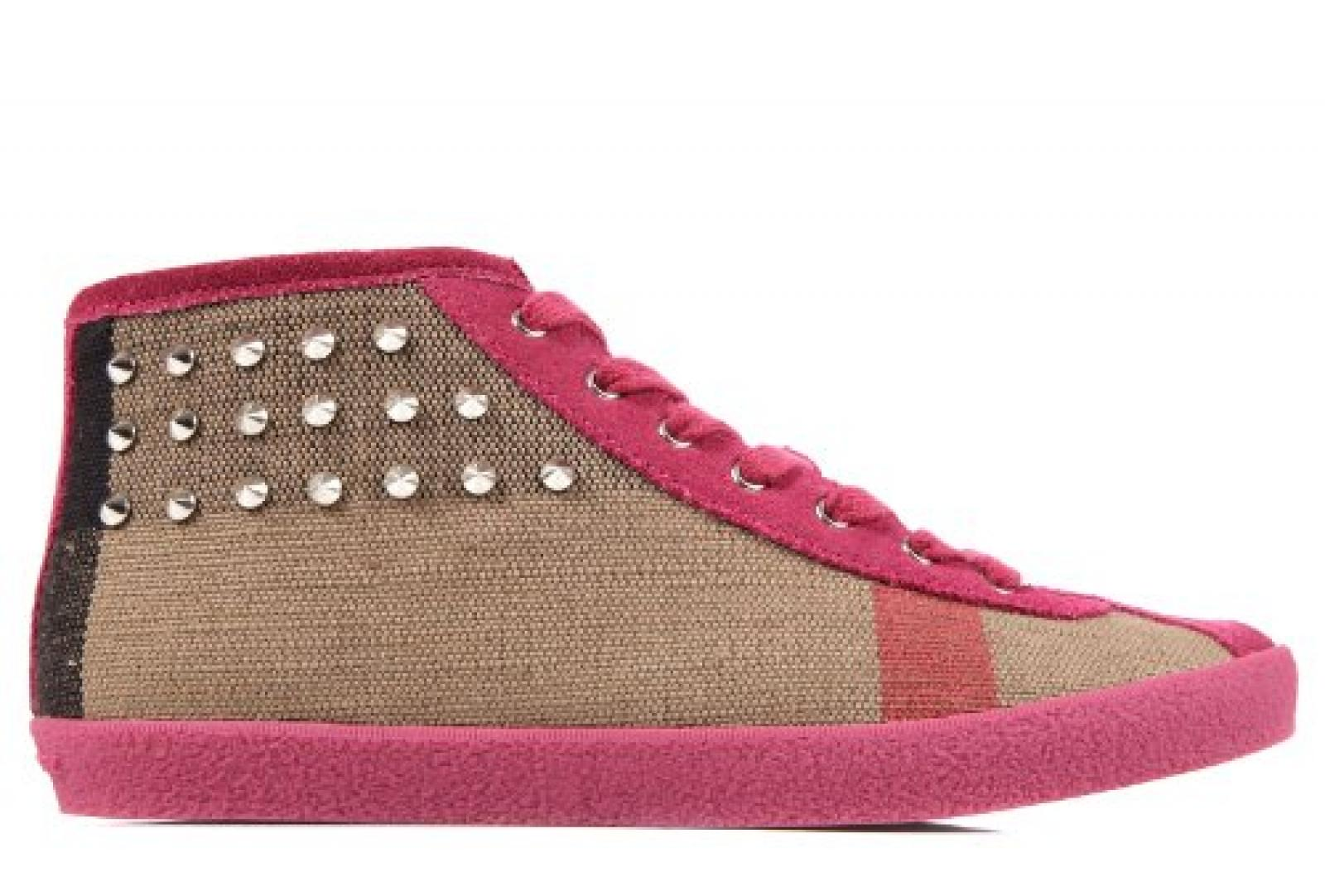 Burberry Damenschuhe Damen Leder Schuhe High Sneakers eastbury fuxia