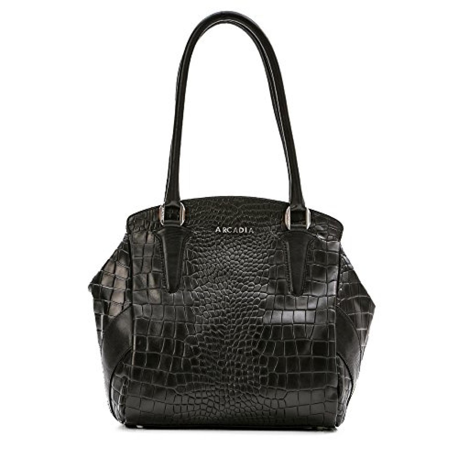 Arcadia Lesina großen gedruckt Krokoleder Tote-Schulterhandtasche - schwarz