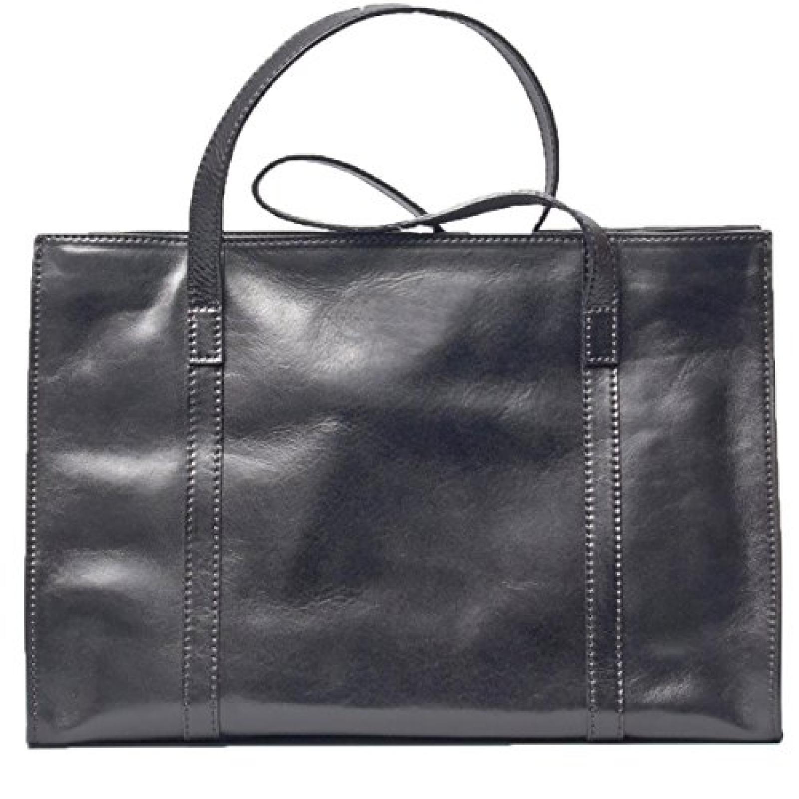 Maxwell Scott Bags ® Luxus Damen Businesstasche aus Leder in Schwarz (Rivara)