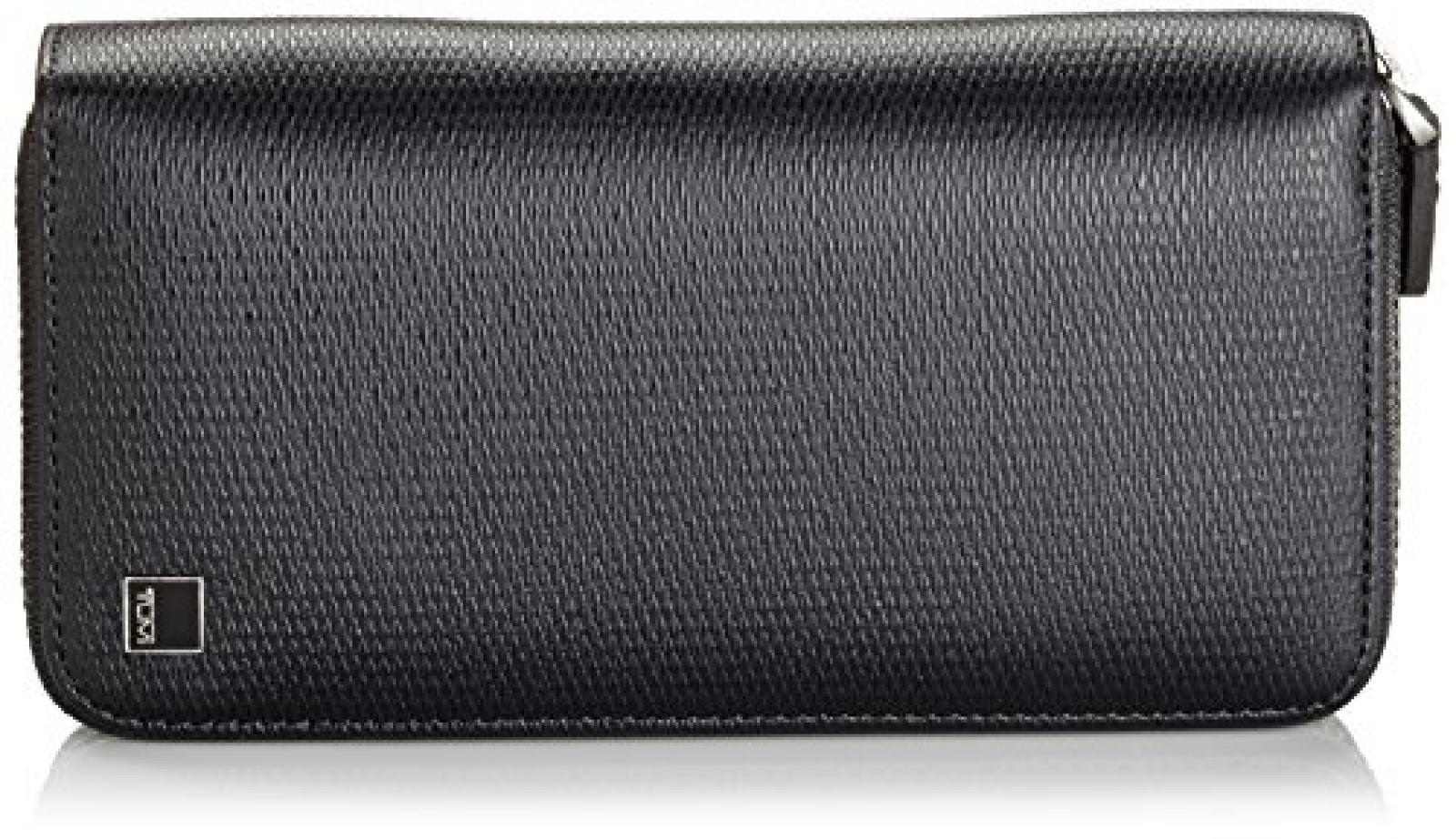 Tumi Münzbörse Large Zip Around Travel Wallet  Schwarz (Black) 018287D
